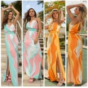 Vestido Longo Colorful