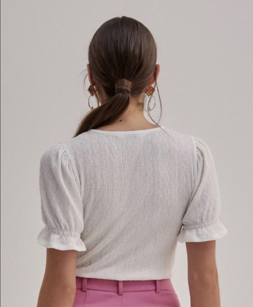 Blusa malha textura babadinho