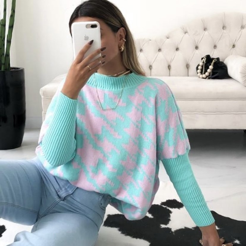 Blusa tricot morcego
