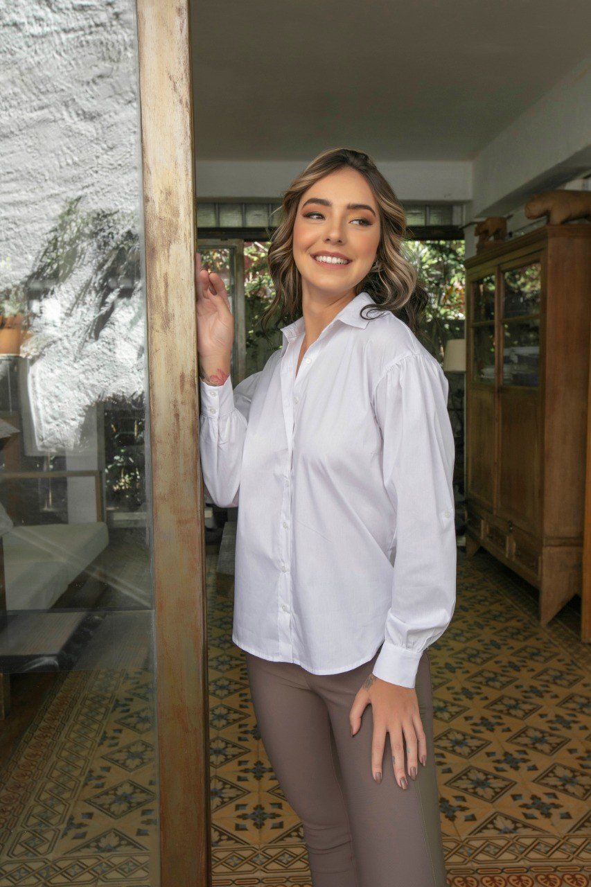 Camisa Bufante Tricoline