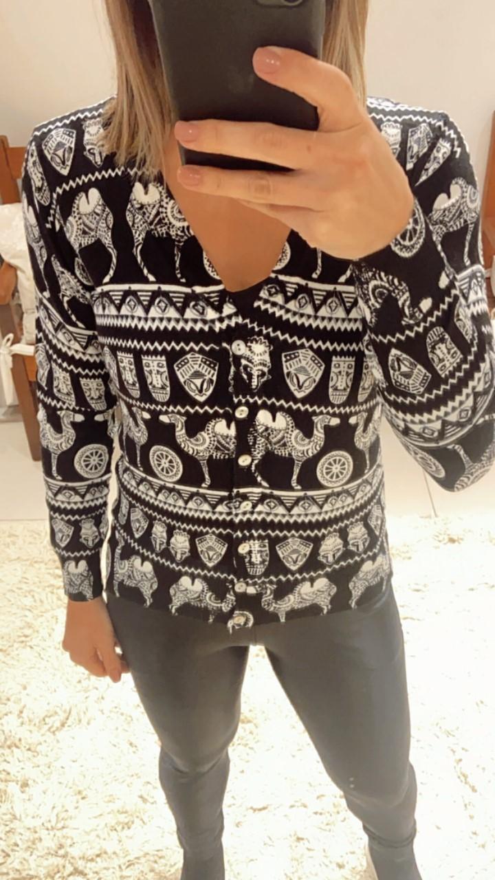 Cardigan tricô curto camelo