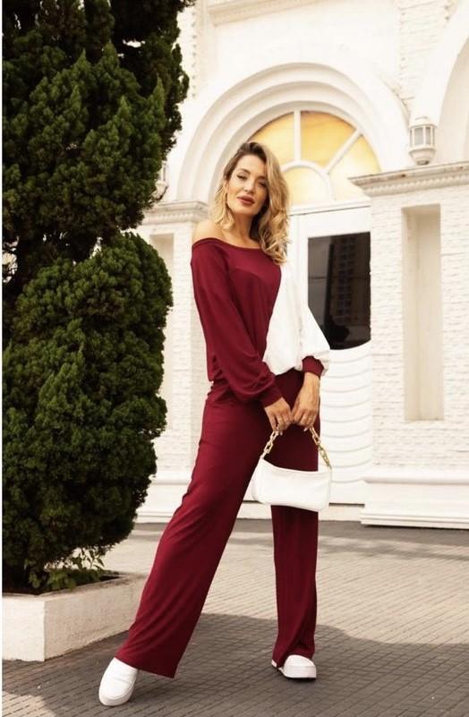 Conjunto viscolycra blusa manga longa e pantalona
