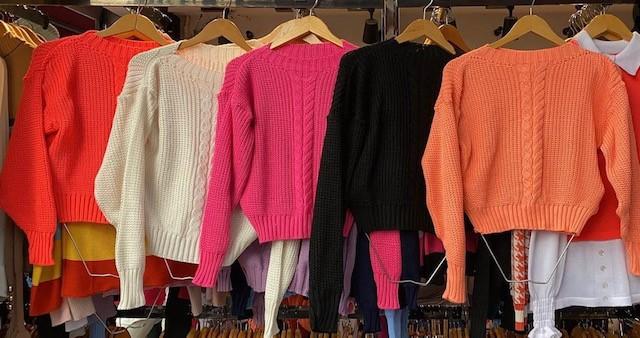 Cropped tricot trança