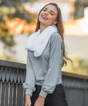 Gola tricot pontão TRICOMIX