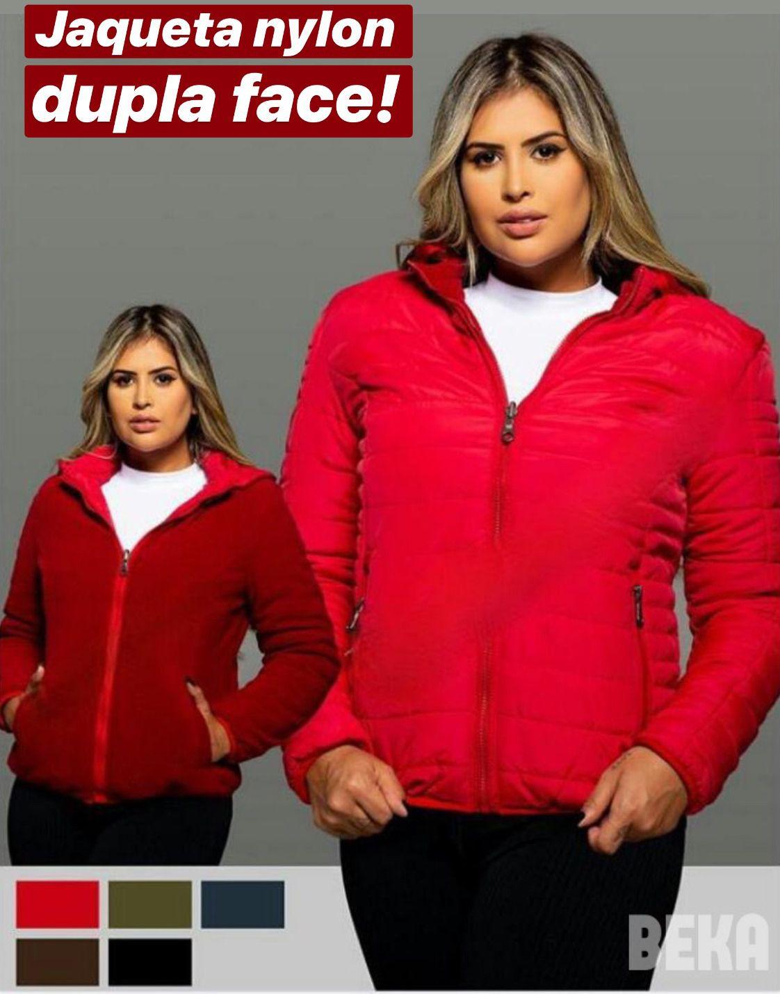 Jaqueta Nylon dupla face