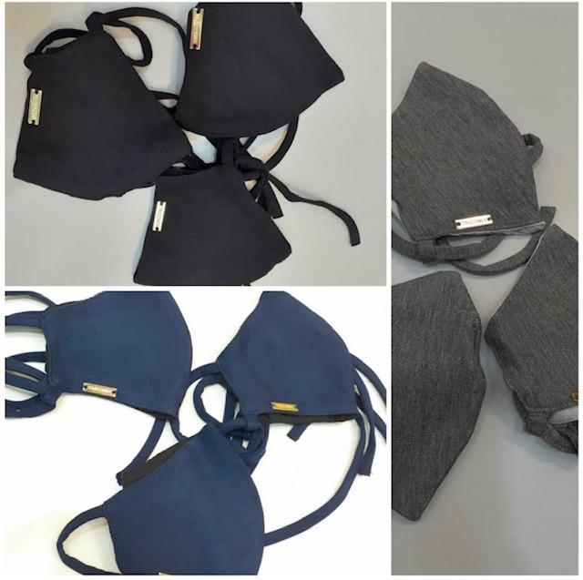 Kit 3 máscaras pretas TRICOMIX