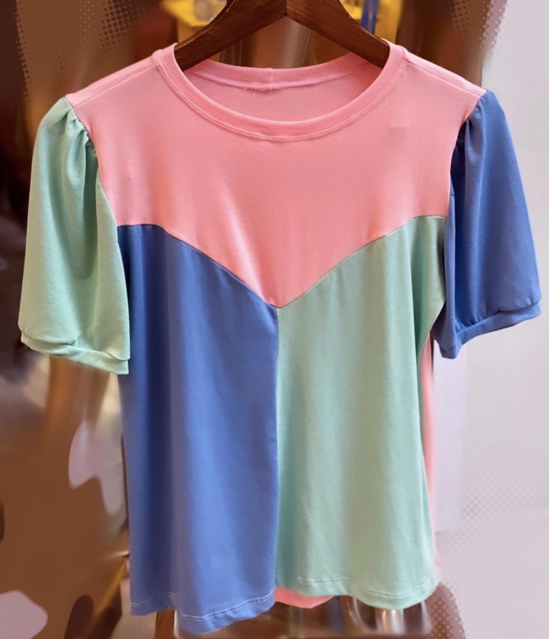 T-Shirt Color Block- tamanho único