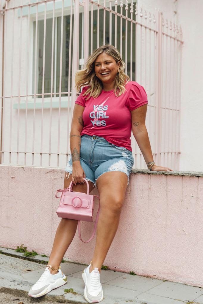 T-Shirt bordada Yes Girls