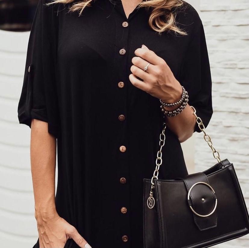 Vestido chemise malha