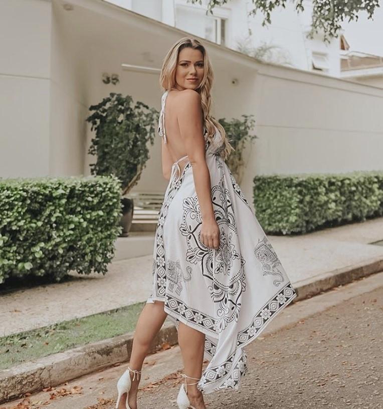 Vestido lenço ponta mandala