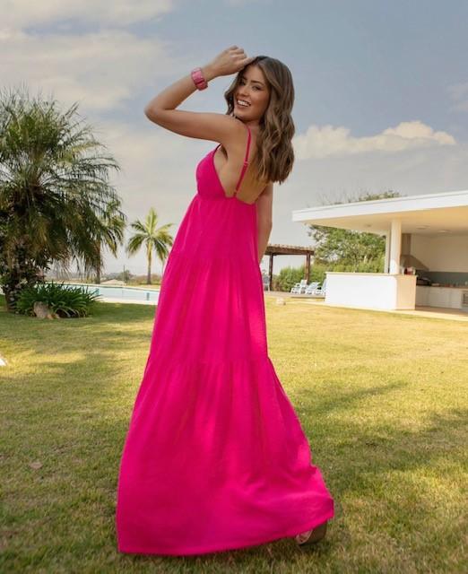 Vestido longo Capri
