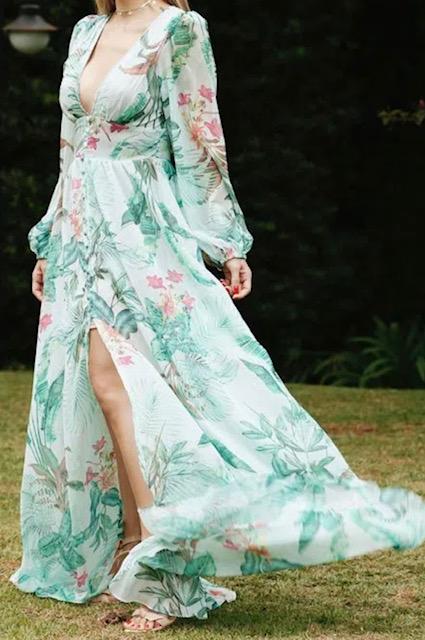 Vestido longo Tropically