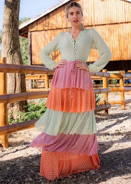 Vestido Tule Color Teodora