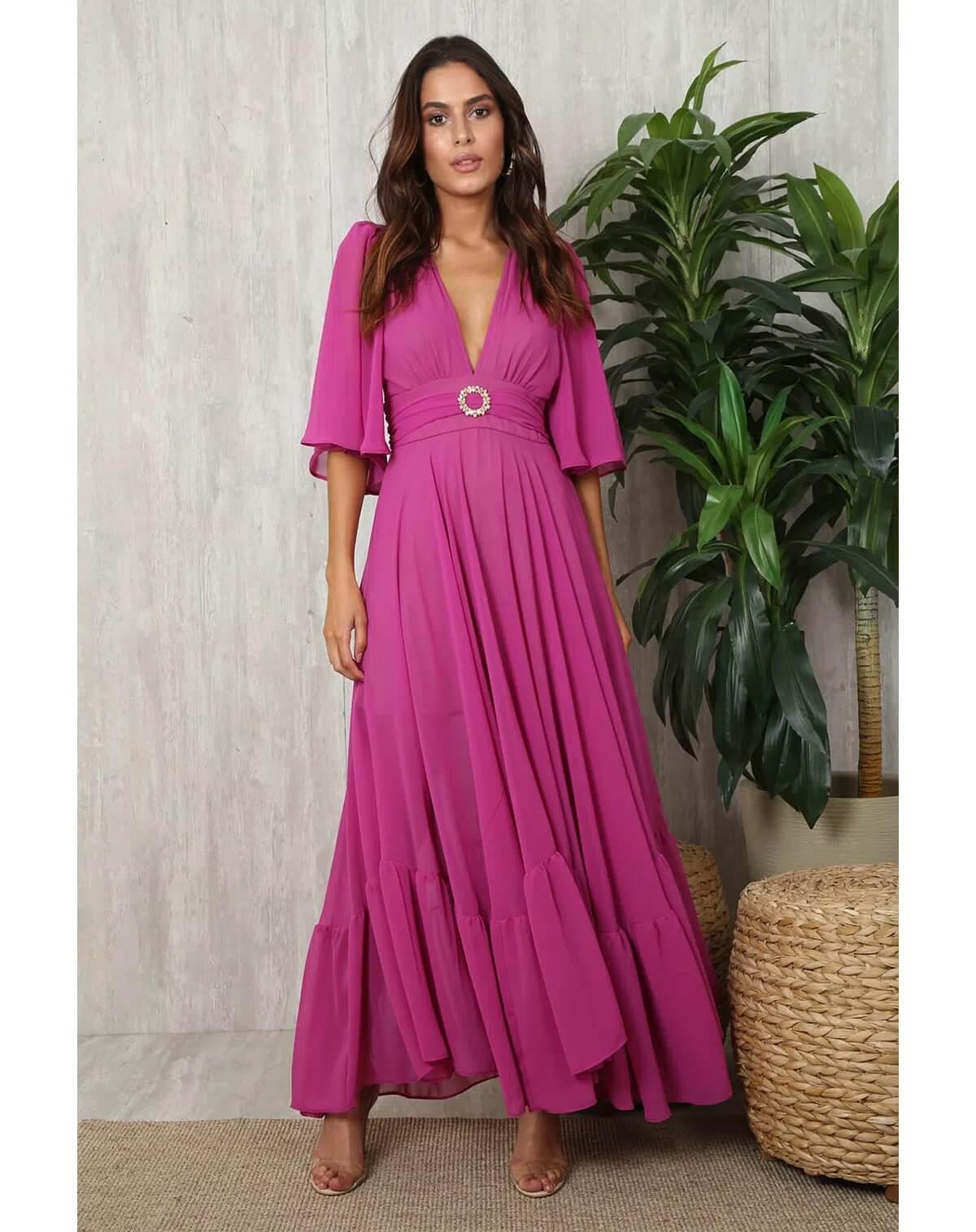Vestido Valentino Shine longo com cinto