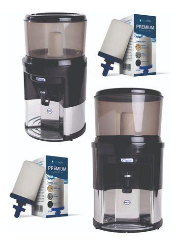 Bebedouro Filtro De Água Em Inox Brinde 2 Velas Tripla Ação