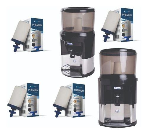 Filtro De Água Alcalina Tripla Ação 4 Vela Tripla Ação 1boia