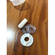 1 Niple De Plastico Com 1 Boia Arruelas E Porca Para Bebedouro