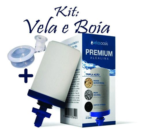 Kit 4 Vela Oasis Alcalina Tripla Ação Premium Prata + 2 Boia