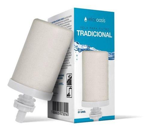 Cx 24 Un Vela Tradicional Para Filtro De Água Barro Acrílico