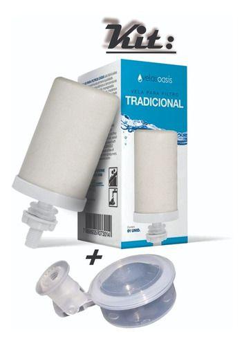 Kit 4 Vela Tradicion 3 Boia + 1 Torneira Para Filtro De Água