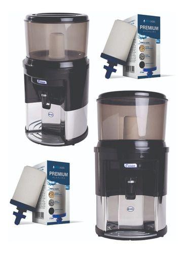 Filtro De Água Alcalina Inox Dupla Ação + 2 Vela Tripla Ação