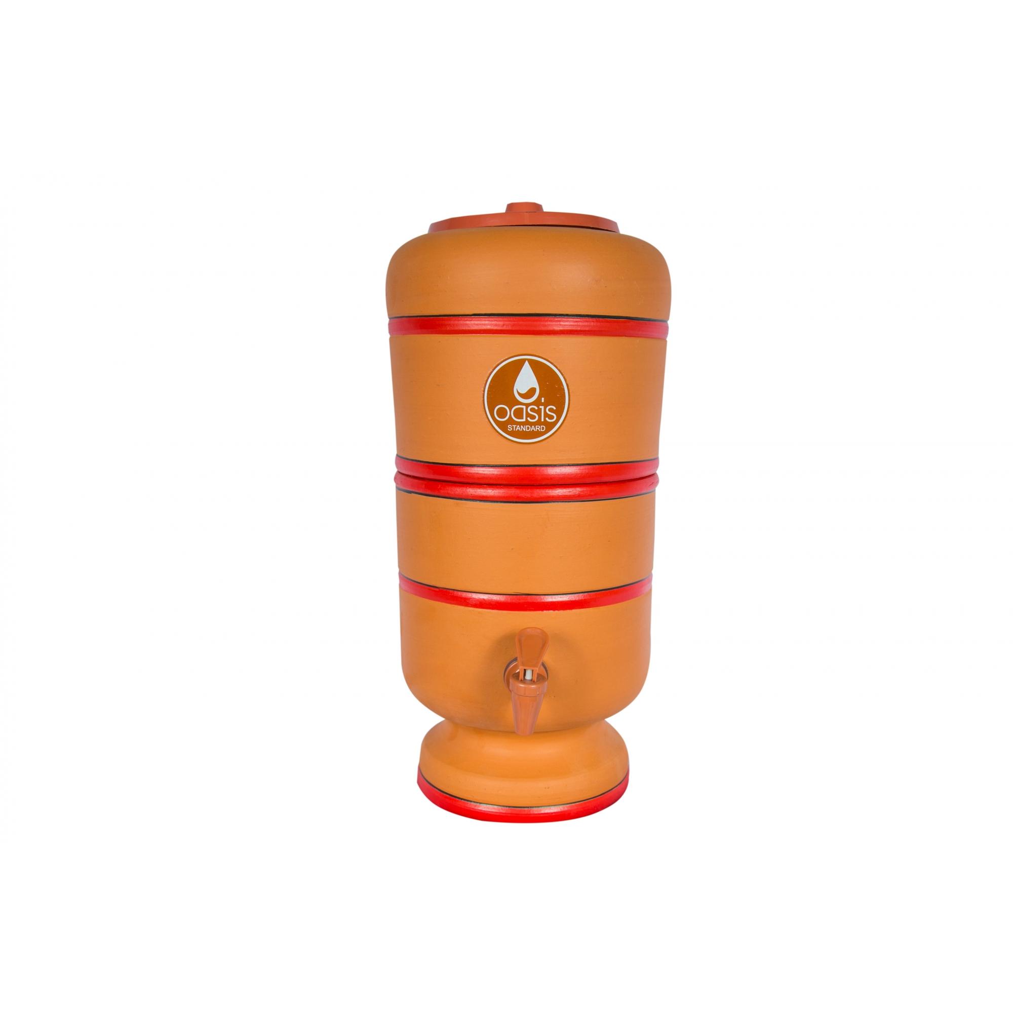Filtro De Barro Para Água, Oasis Cerâmica Argila 4 Litros N1