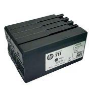 CARTUCHO ORIGINAL HP 711 - KIT 4 CORES SETUP (JÁ INICIALIZADO) PARA HP T120, T130, T520 e T530