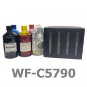 KIT BULK INK PARA INSTALAÇÃO NA EPSON WF-C5790 COM TINTA CORANTE PRECISION