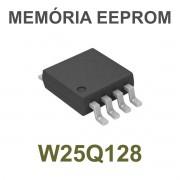 MEMÓRIA EEPROM W25Q128 25Q128 W25Q128BVSIG SOP8 SMD 128M-BIT - PEÇA VIRGEM