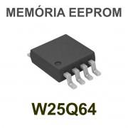 MEMÓRIA EEPROM W25Q64 25Q64 W25Q64BVSIG SOP8 SMD 64M-BIT - PEÇA VIRGEM
