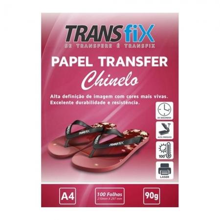 PAPEL TRANSFER LASER TRANSFIX CHINELO (ROSA) 90G/M² - A4 (210X297MM) - PACOTE C/ 100 FOLHAS
