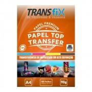 PAPEL TRANSFER LASER TRANSFIX TOP TRANSFER 120G/M² - A4 (210X297MM) - PACOTE C/ 100 FOLHAS