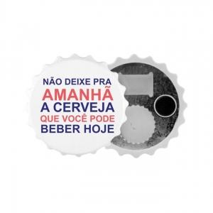 ABRIDOR DE GARRAFAS BRANCO TIPO TAMPA PARA SUBLIMAÇÃO (MODELO 1 SFCT) - 1 UNIDADE