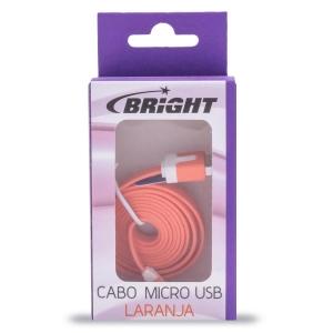 Cabo Micro USB Laranja