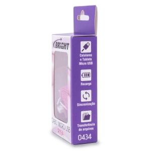 Cabo Micro USB Rosa