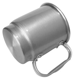 Caneca de Alumínio Prata Inteira Escovada para Sublimação   Capacidade: 500ml