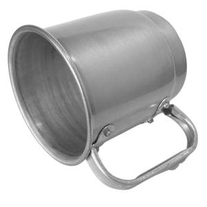 Caneca de Alumínio Prata Inteira Escovada para Sublimação   Capacidade: 550ml