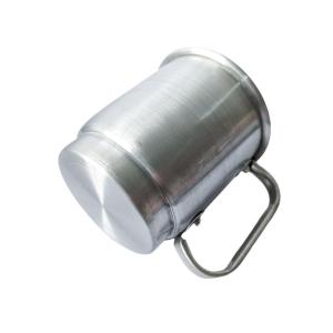 Caneca de Alumínio Prata Inteira Lisa para Sublimação | Capacidade: 525ml