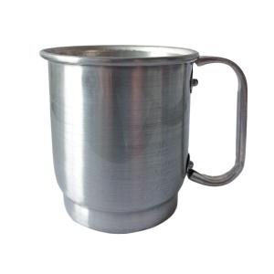 Caneca de Alumínio Prata Inteira Lisa para Sublimação   Capacidade: 550ml