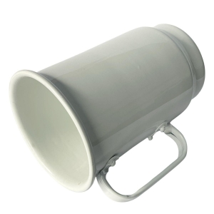 Caneca de Chopp de Alumínio Branca para Sublimação | Capacidade: 600ml