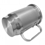 Caneca de Chopp de Alumínio Prata com Tarja Escovada para Sublimação | Capacidade: 500ml