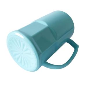 Caneca de Chopp de Plástico Polímero com Base Trabalhada 500ml para Sublimação | Azul Turquesa