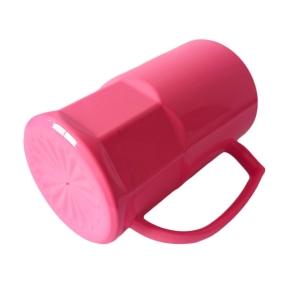 Caneca de Chopp de Plástico Polímero com Base Trabalhada 500ml para Sublimação   Rosa