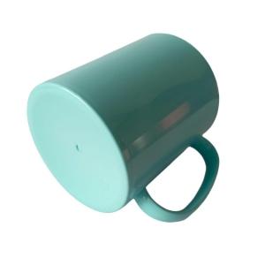 Caneca de Plástico Polímero 360ml Colorida com Interior Preto para Sublimação (ADP 140g) | Azul Turquesa