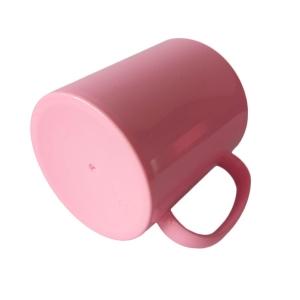 Caneca de Plástico Polímero 360ml Colorida com Interior Preto para Sublimação (ADP 140g)   Rosa BB