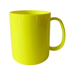 Caneca de Plástico Polímero 360ml Colorida para Sublimação (ADP) | Amarela