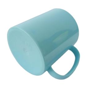 Caneca de Plástico Polímero 360ml Colorida para Sublimação (ADP)   Azul Turquesa