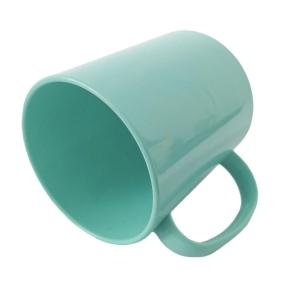 Caneca de Plástico Polímero 360ml Colorida para Sublimação (ADP)   Verde Tiffany