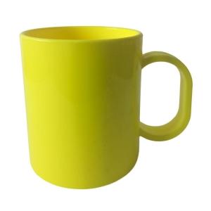 Caneca de Plástico Polímero 360ml para Sublimação (SFCT 130g)   Amarelo