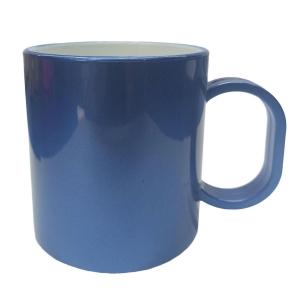 Caneca de Plástico Polímero para Sublimação Linha Color | Azul Metal